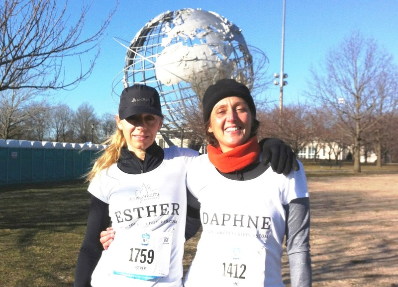 Een halve marathon in Queens