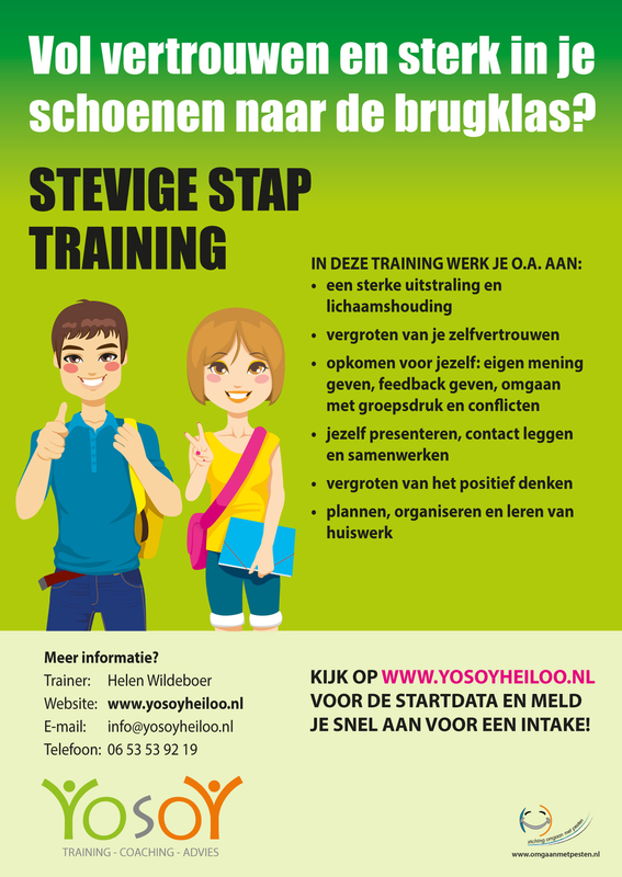 Flyer Stevige Stap training