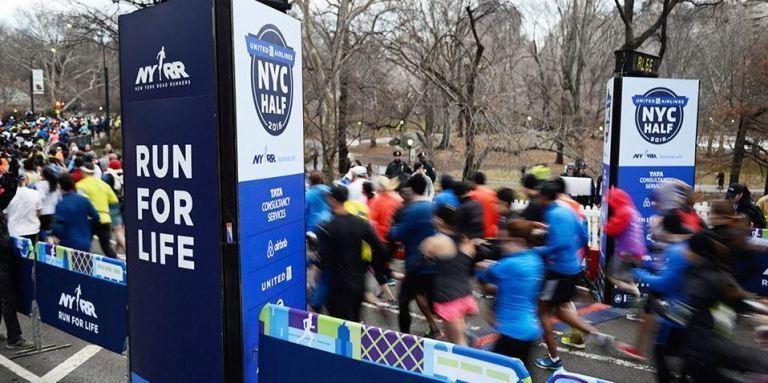 De halve marathon van NYC