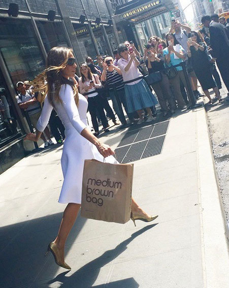 medium brown bag Bloomingdale's New York City