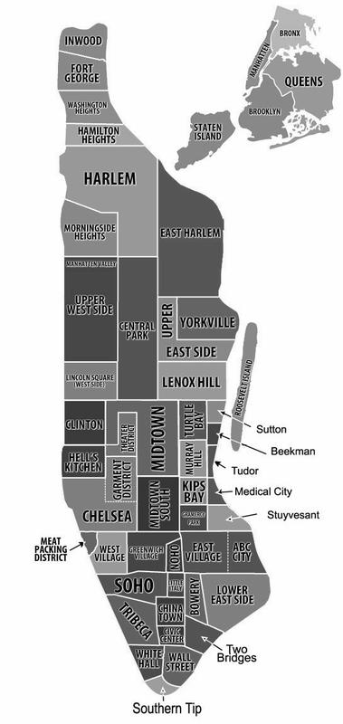 buurten en wijkjes van New York City