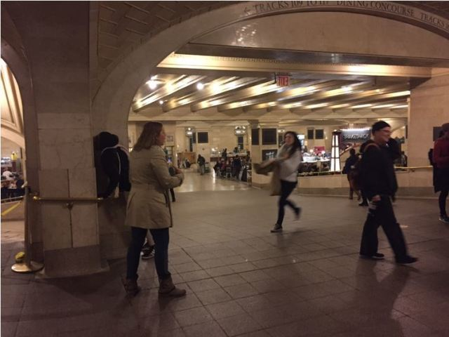 Whispering Gallering at Grand Central Station