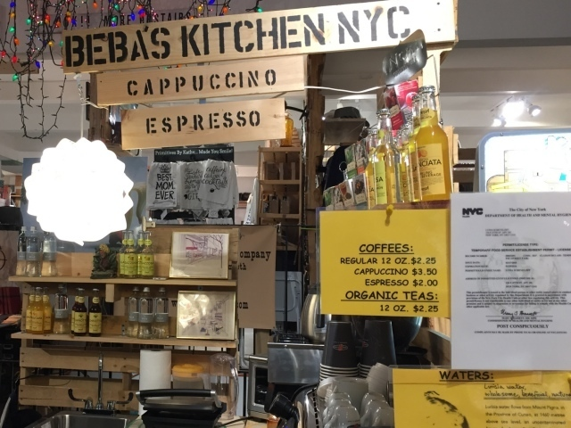 Newyorkcitytrippers at The Market NYC cappucino at Beba's Kitchen