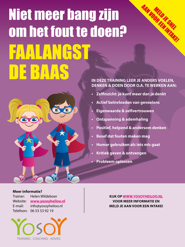 Flyer Faalangst de baas training YosoY
