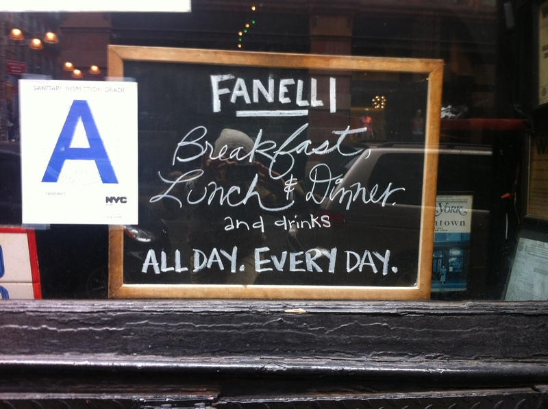 Fanelli's in SoHo New York City