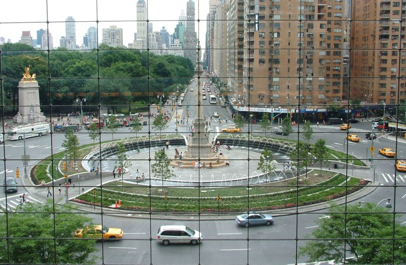 The view at Columbus Circle in New York City