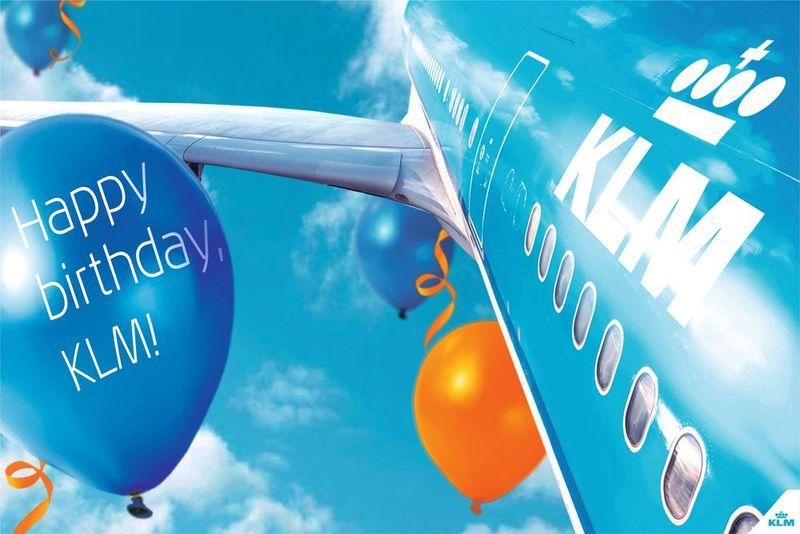 KLM is jarig en trakteert!
