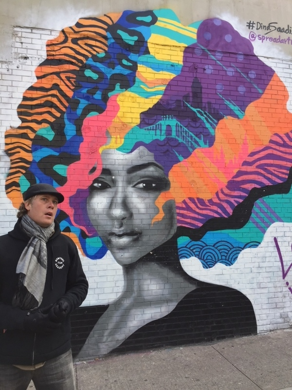 Bushwick streetart tour - Love is color by Dina Saadi