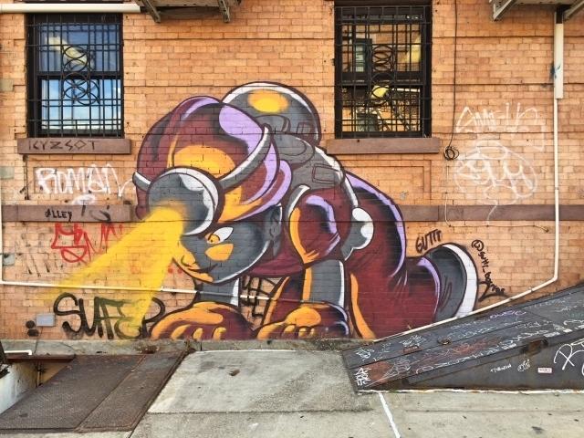 Bushwick streetart tour - hoek Troutman Street en Irvin Ave