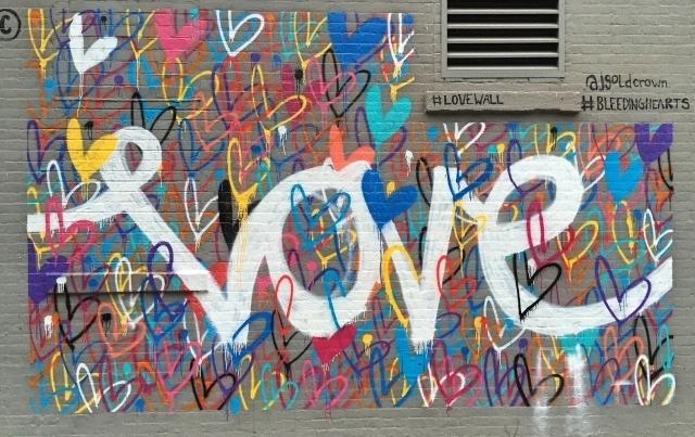 Beste Valentijnsdag streetart in NYC