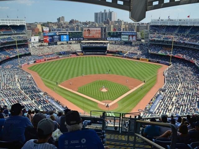 New York Yankees playing in Yankee Stadium the Bronx