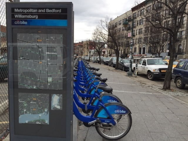 Citibike station in Brooklyn